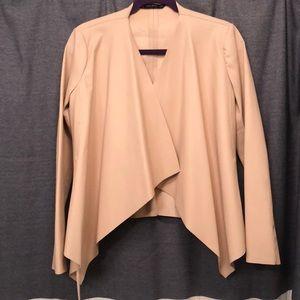 Front open faux leather jacket by Zara